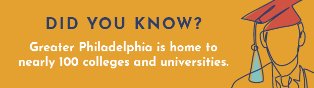 Did you know? Greater Philadelphia is home to nearly 100 colleges and universities.